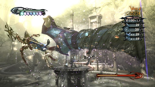 Bayonetta's hair...yes that's her hair