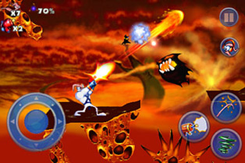Earthworm Jim - Those ghosty things are a pest