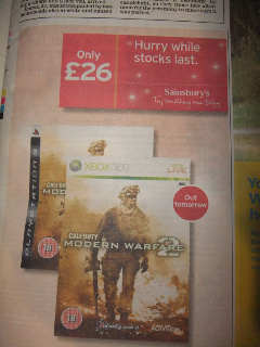 Modern Warfare 2 - Image from www.hotukdeals.com member Lee Codes